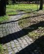 Садовая дорожка из гранитной брусчатки - 120