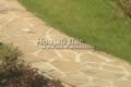 Садовая дорожка из плитняка (швы с цементом)