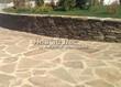 Садовая дорожка из плитняка (швы заделаны цементом) - 101