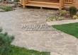 Садовая дорожка из плитняка (швы заделаны цементом) - 105
