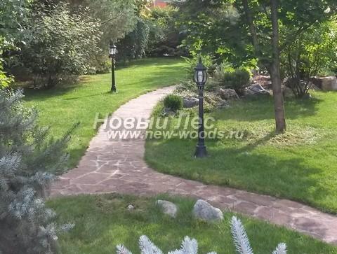 Садовые дорожки из плитняка хорошо вписываются в любой ландшафт и являются одними из самых популярных