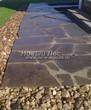 Садовая дорожка из плитняка (швы заделаны цементом) - 108