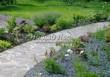 Садовая дорожка из плитняка (швы заделаны цементом) - 110