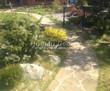 Садовая дорожка из плитняка (швы заделаны цементом) - 123