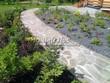 Садовая дорожка из плитняка (швы заделаны цементом) - 124