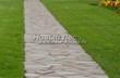 Садовая дорожка из плитняка (швы заделаны цементом) - 126