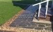 Садовая дорожка из плитняка (швы заделаны цементом) - 128