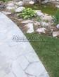 Садовая дорожка из плитняка (швы заделаны цементом) - 138