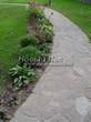 Садовая дорожка из плитняка (швы заделаны цементом) - 148