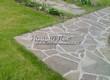 Садовая дорожка из плитняка (швы заделаны цементом) - 156