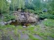 Садовая дорожка из плитняка (камень-пластушка, швы с травой) - 111