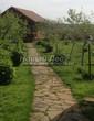 Садовая дорожка из плитняка (камень-пластушка, швы с травой) - 130