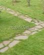 Садовая дорожка из плитняка (камень-пластушка, швы с травой) - 133
