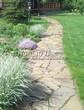 Садовая дорожка из плитняка (камень-пластушка, швы с травой) - 148