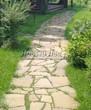 Садовая дорожка из плитняка (камень-пластушка, швы с травой) - 150