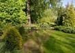 Садовая дорожка из плитняка (камень-пластушка, швы с травой) - 161