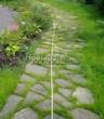 Садовая дорожка из плитняка (камень-пластушка, швы с травой) - 164