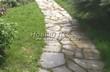 Садовая дорожка из плитняка (камень-пластушка, швы с травой) - 165