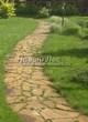 Садовая дорожка из плитняка (камень-пластушка, швы с травой) - 174