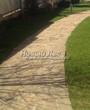 Садовая дорожка из песчаника (швы отсыпаны гравием) - 102