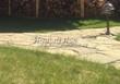 Садовая дорожка из песчаника (швы отсыпаны гравием) - 104