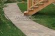 Садовая дорожка из песчаника (швы отсыпаны гравием) - 123