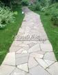 Садовая дорожка из песчаника-пластушки (швы без наполнения) - 104