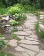 Садовая дорожка из песчаника-пластушки (швы без наполнения) - 111