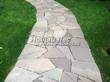 Садовая дорожка из песчаника-пластушки (швы без наполнения) - 112