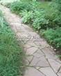Садовая дорожка из песчаника-пластушки (швы без наполнения) - 120