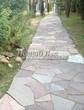 Садовая дорожка из песчаника-пластушки (швы без наполнения) - 124