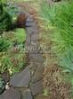 Садовая дорожка из песчаника-пластушки (швы без наполнения) - 125