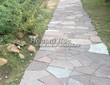 Садовая дорожка из песчаника-пластушки (швы без наполнения) - 140