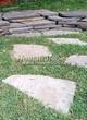 Пошаговая садовая дорожка из песчаника (плитняка) - 102