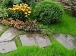 Пошаговая садовая дорожка из песчаника (плитняка) - 103