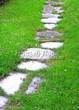 Пошаговая садовая дорожка из песчаника (плитняка) - 104