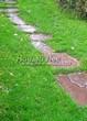 Пошаговая садовая дорожка из песчаника (плитняка) - 106