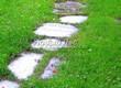 Пошаговая садовая дорожка из песчаника (плитняка) - 111