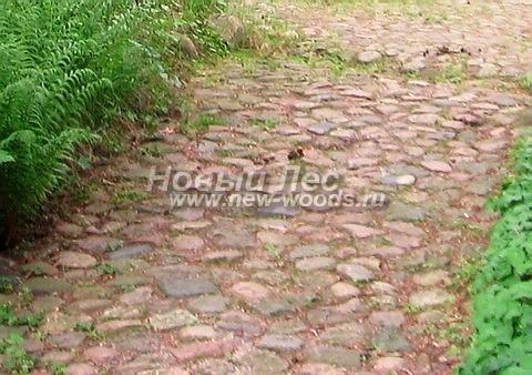 Садовая дорожка из натуральных камней-валунов