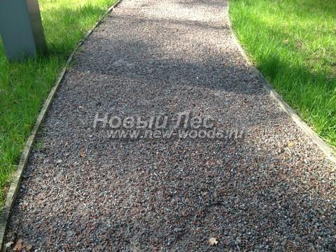 Насыпная садовая дорожка из гранитного отсева