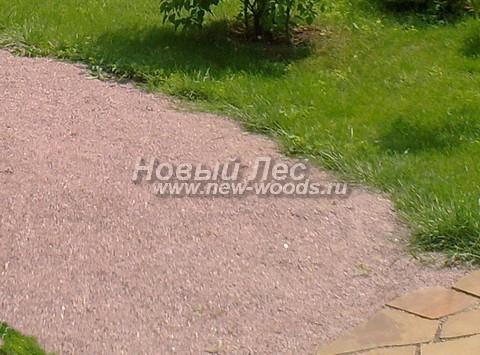 Садовая дорожка из песка (отсев, мытый песок)