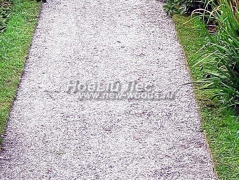Садовая дорожка из гравия, щебня, гальки