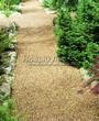 Садовая дорожка из гравия, щебня, гальки. Гравийный отсев - 108