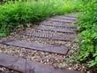 Садовая дорожка из бревен, шпал, бруса - 102