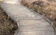 Деревянная садовая дорожка из досок (мостки из дерева) - 101