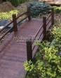 Деревянная садовая дорожка из досок (мостки из дерева) - 103