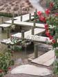 Деревянная садовая дорожка из досок (мостки из дерева) - 110