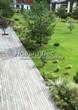 Деревянная садовая дорожка из досок (мостки из дерева) - 112