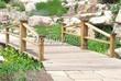 Деревянная садовая дорожка из досок (мостки из дерева) - 114