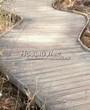 Деревянная садовая дорожка из досок (мостки из дерева) - 117